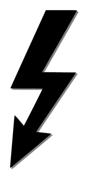 Lightening Bolt Reflective Decal