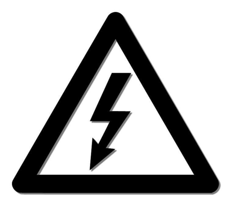 High Voltage Warning Reflective Decal