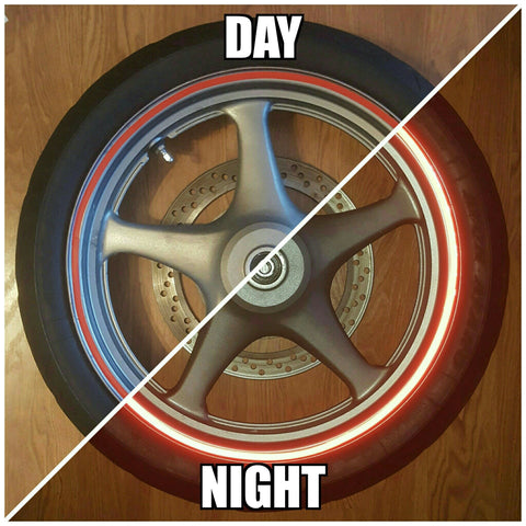 Red Reflective Wheel Stripes
