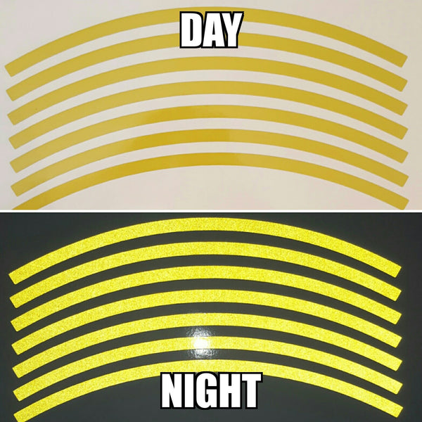 Yellow Reflective Wheel Stripes