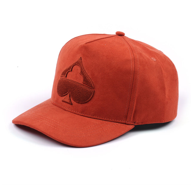 Suede Curved Peak - Blood Orange-Suede Curved Snapback-TSCH-Apparel-Luxury-Headwear
