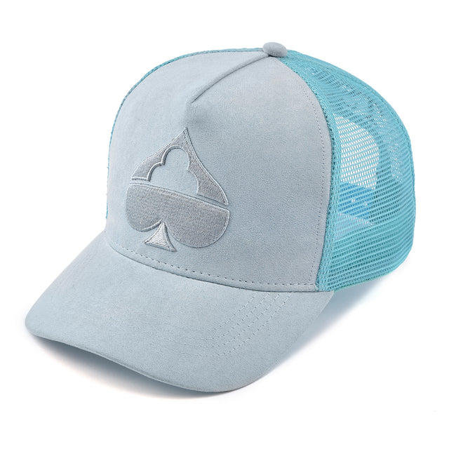 Safe House Baby Blue Suede Trucker Black Friday