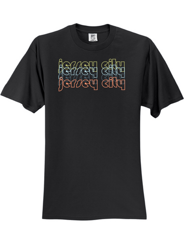 Jersey City New Jersey Retro 3930 Slogan Humorous Mens Funny Tee Shirt