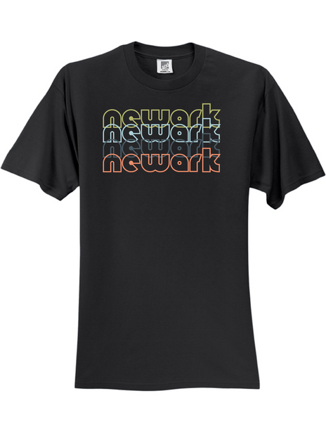 Newark New Jersey Retro 3930 Slogan Humorous Mens Funny Tee Shirt