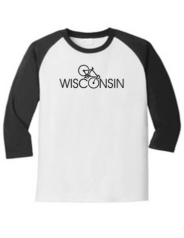 Wisconsin Bicyclist 5700 Raglan Men's Funny T Shirt Slogan Humorous