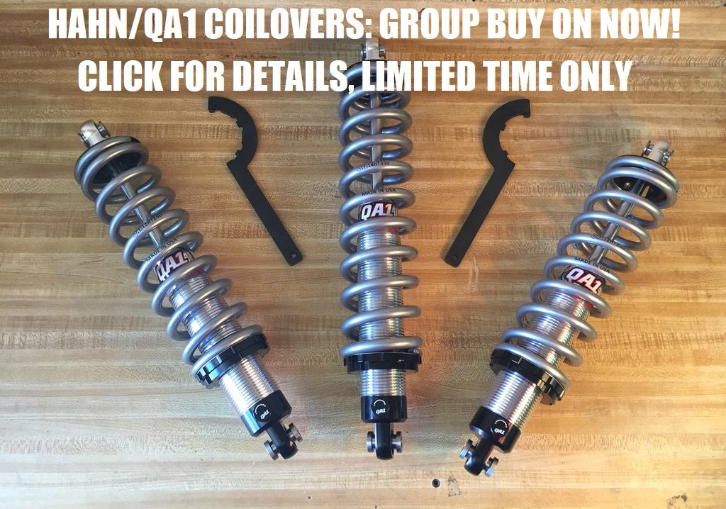 BOOSTOBER BLOWOUT! Hahn/QA1 Spherical Coilovers as low as $649!
