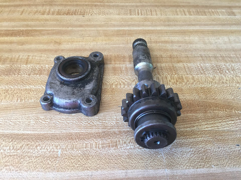 Kawasaki KZ kick-start shaft and cover - Used