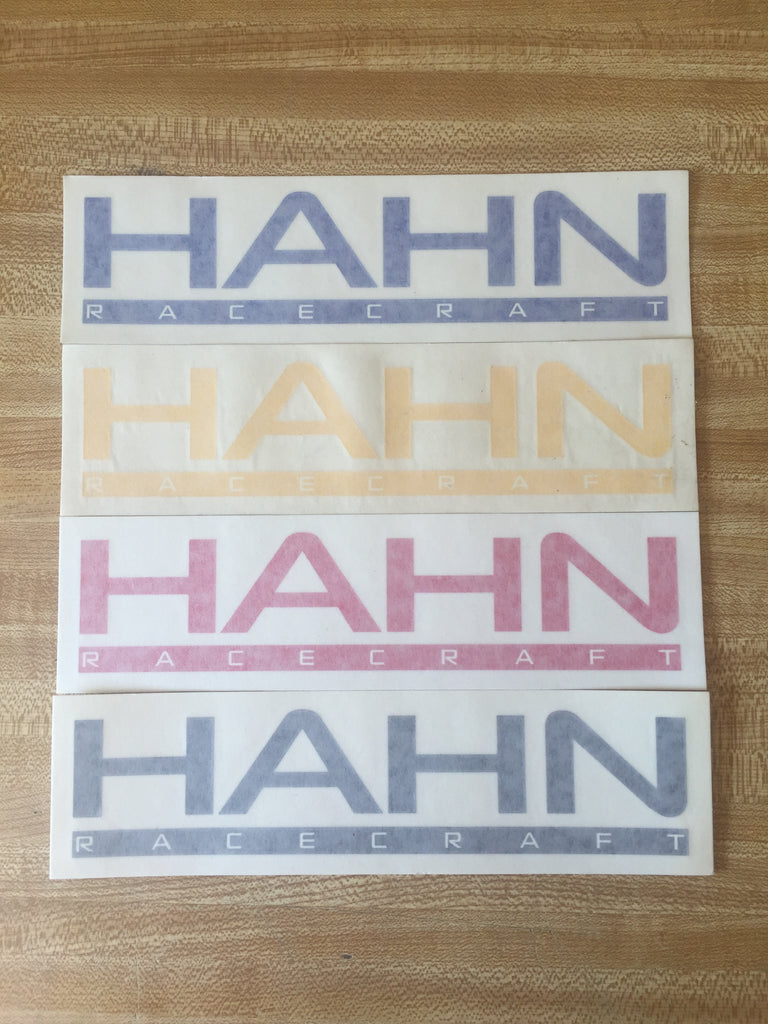 Hahn RaceCraft Vinyl Decal