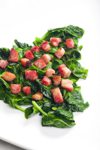 Balsamic Baby Spinach Bacon Recipe