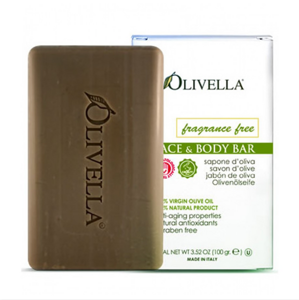 Face & Body Bar, Fragrance Free - By Olivella - 3.52oz