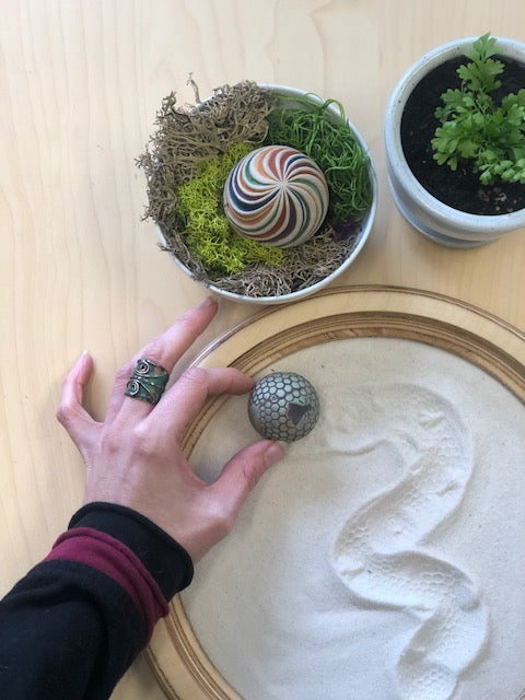 Your Mini Zen Garden: Using Dried Moss to Create a Custom Sand Sphere Holder