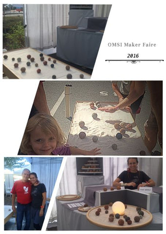 OMSI Makers Faire 2016. Sand play sensory fun!