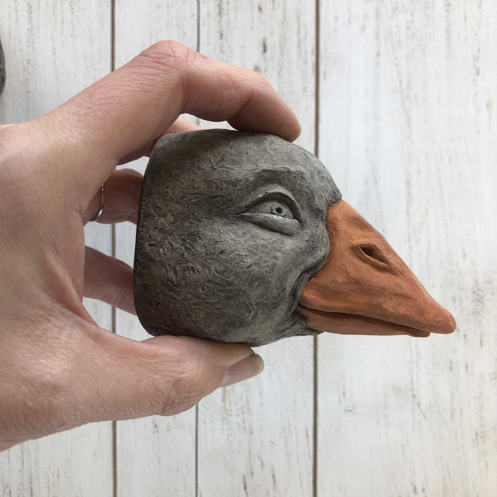 Mother Goose | Cement Wall Hanging Animal Head