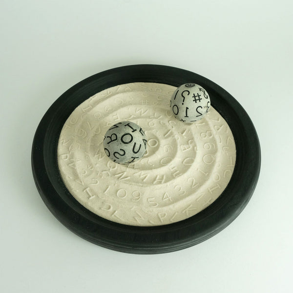 "Desktop Zen Garden | 12"" Monochrome 