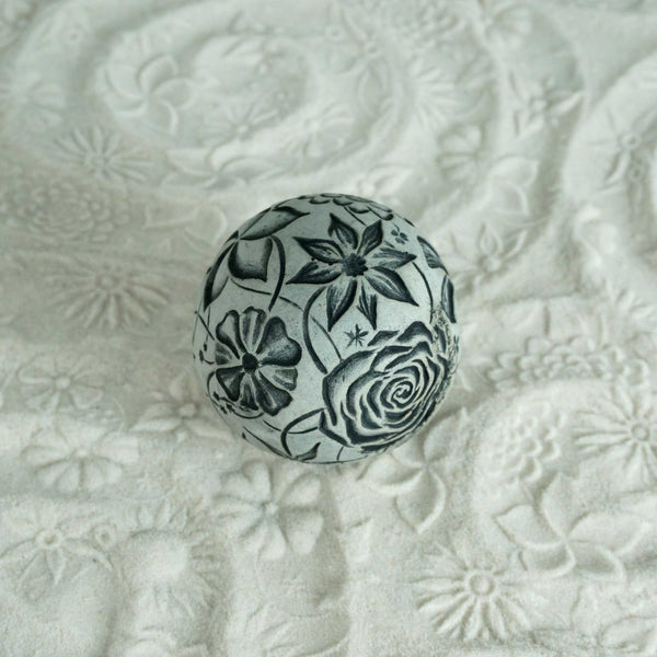 Zen Texture Ball | Monochrome Flowers Sandplay Sphere