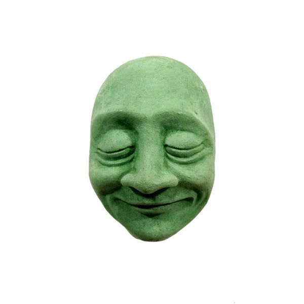 Wall-Hanging Decor | Concrete Sculpture | Bliss Face in green