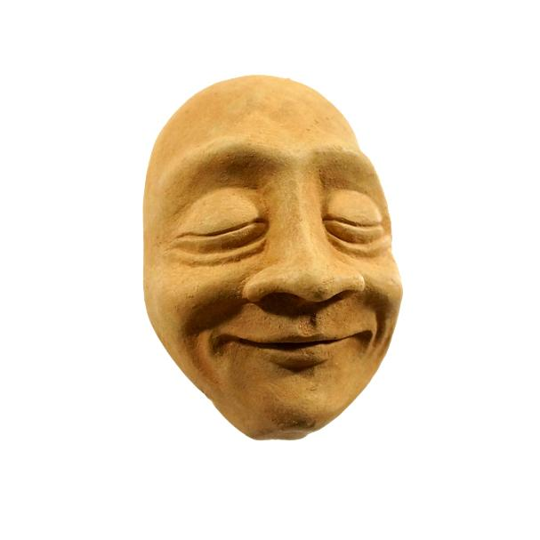 Wall-Hanging Decor | Cement Sculpture | Bliss Face in Mustard