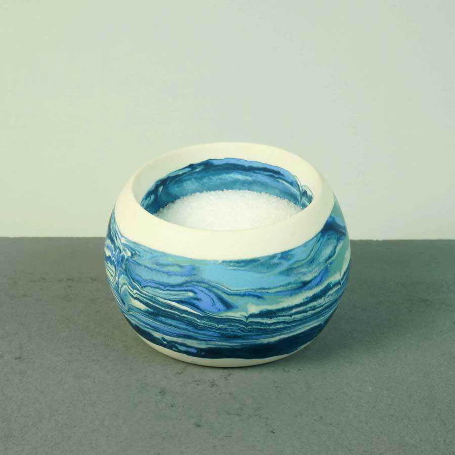 Artisan Made Wide Mouth Bowl | Ocean | Small