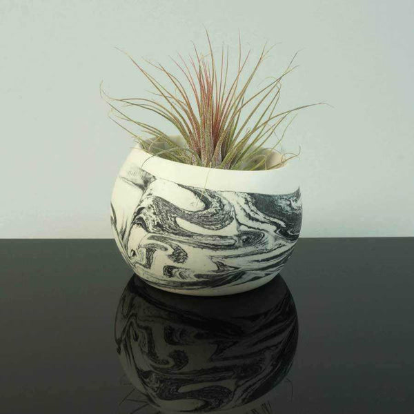 Artisan Made Wide Mouth Bowl | Monochrome | Small