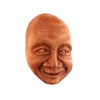 Face Art for the Wall | Chuckle Face in Terra Cotta