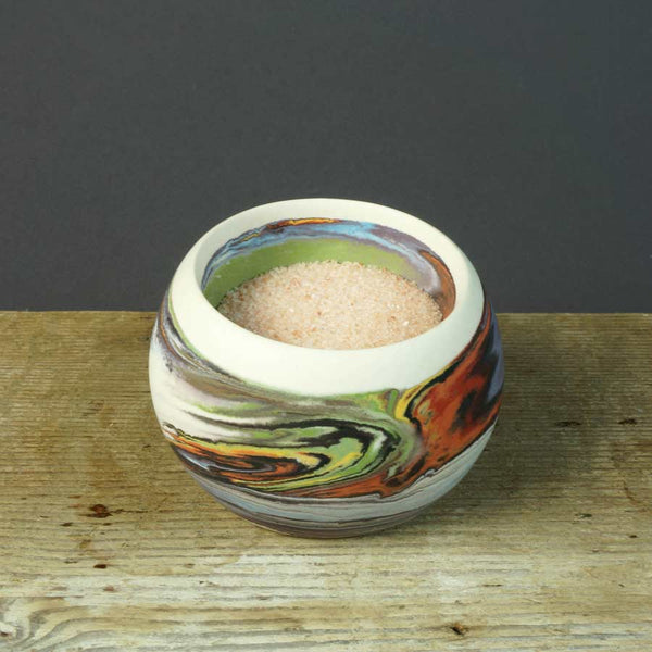 Artisan Made Wide Mouth Bowl | Rainbow | Small