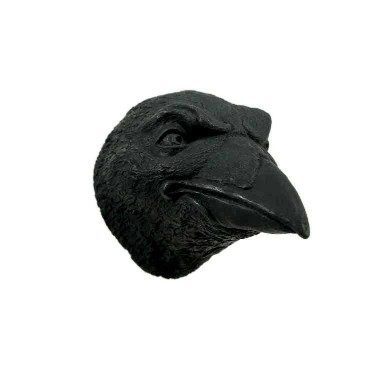 Raven Art | Wall-Hanging Faux Animal Head