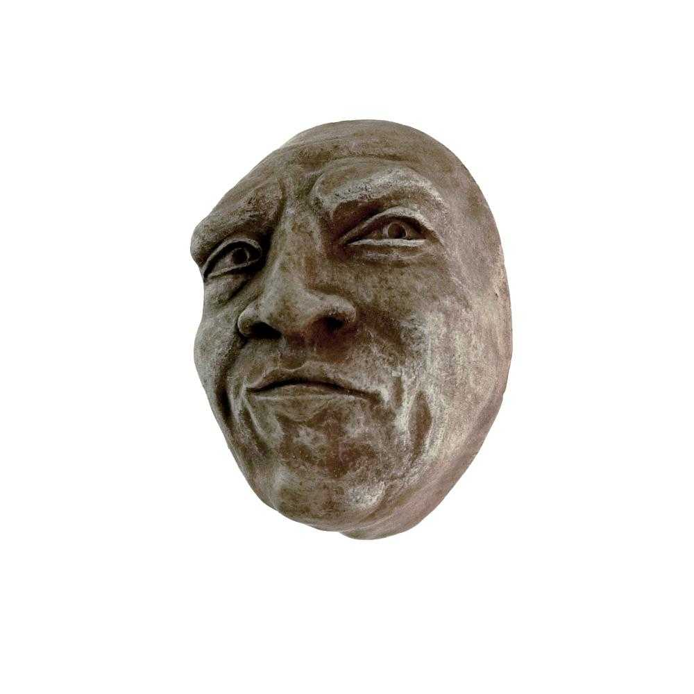 Skeptical Look | Small Face Sculpture in Slate