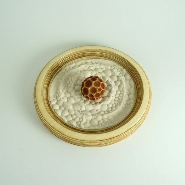 Mini Zen Garden | Bubbles Sphere | Yellow Brown