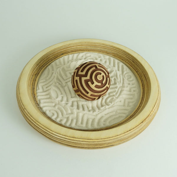 A mini zen garden for home or office. Therapeutic sand play for all. Comes with 1 sand sphere & 12oz sand.