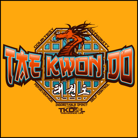 Taekwondo T-Shirt - Octagon & Dragon - FREE SHIPPING! YLST-403 - Rhino Junction Apparel - 1