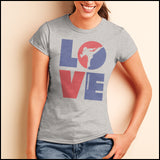 TKD LOVE - Taekwondo T-Shirt - TAEKWONDO LOVE! - JST-411 - Rhino Junction Apparel - 3