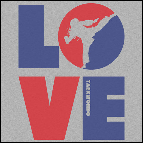 TKD LOVE - Taekwondo T-Shirt - TAEKWONDO LOVE! - YGLS-411 - Rhino Junction Apparel - 1