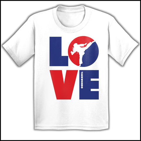 TKD LOVE - Taekwondo T-Shirt - TAEKWONDO LOVE! - YGSS-411 - Rhino Junction Apparel - 1