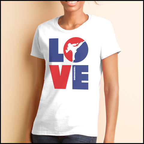 TKD LOVE - Taekwondo T-Shirt - TAEKWONDO LOVE! - MST-411 - Rhino Junction Apparel - 1