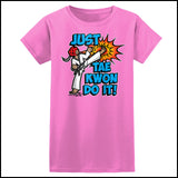 Cool Kick! - TAEKWONDO T-SHIRT FOR JUNIORS- Just Tae Kwon DO IT! Cartoon - JST431 - Rhino Junction Apparel - 5