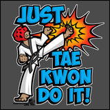 Cool Kick! - T-Shirts are a Great TAEKWONDO GIFT!-Just Tae Kwon DO IT! YBSS432 - Rhino Junction Apparel - 1