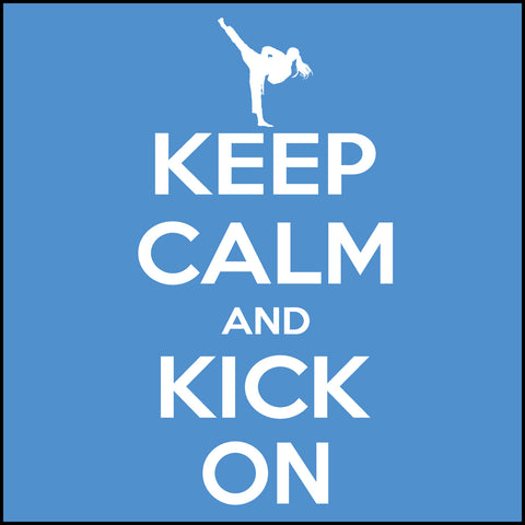 Keep Calm & Kick On!-MARTIAL ARTS T-SHIRT - Classic Design - YGLS-433 - Rhino Junction Apparel - 1