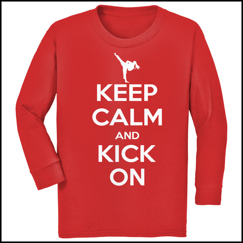 Keep Calm & Kick On!-MARTIAL ARTS T-SHIRT - Classic Design - YGLS-433 - Rhino Junction Apparel - 4