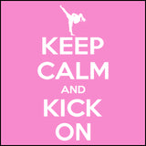 Keep Calm & Kick On!-Taekwondo T-Shirt - Classic Design -YGSS-433 - Rhino Junction Apparel - 1