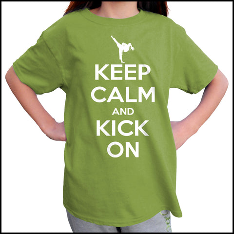 Keep Calm & Kick On!-Taekwondo T-Shirt - Classic Design -YGSS-433 - Rhino Junction Apparel - 4