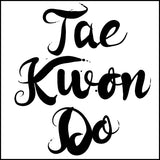 Beautiful Taekwondo T-Shirt - Tae Kwon Do Brush Text  - FREE SHIPPING JSST-464 - Rhino Junction Apparel - 4