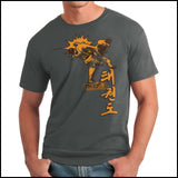 Taekwondo T-Shirt -Spinning Head Kick Design! - FREE SHIPPING AST-436 - Rhino Junction Apparel - 3