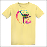 KICK LIKE A GIRL! Awesome Graphic! Our Best Selling Taekwondo T-Shirt -ASST-419 - Rhino Junction Apparel - 3