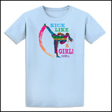 KICK LIKE A GIRL! Awesome Graphic! Our Best Selling Taekwondo T-Shirt -ASST-419 - Rhino Junction Apparel - 4