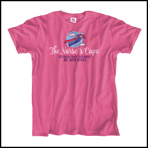 ADULT NURSE T-SHIRT• Nurse Cape Proves Nurses are Super Heroes! Cute! -ASST-4401 - Rhino Junction Apparel - 2