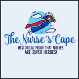 NURSES-LADIES LONG SLEEVE  •Nurse Cape Proves Nurses are Super Heroes!- LLST-4401 - Rhino Junction Apparel - 1