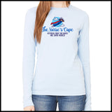 NURSES-LADIES LONG SLEEVE  •Nurse Cape Proves Nurses are Super Heroes!- LLST-4401 - Rhino Junction Apparel - 2