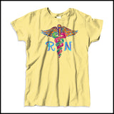 MISSY NURSE T-SHIRT • Colorfully Painted Brush Stroke Caduceus Design-MSST-4406 - Rhino Junction Apparel - 2