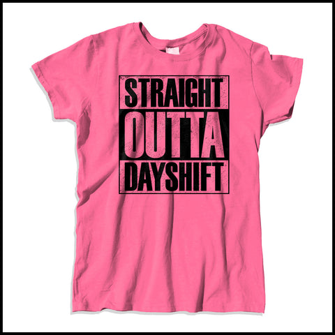 MISSY NURSE T-SHIRT • Straight Outta Day Shift! • Compton Parody-MSST-4409 - Rhino Junction Apparel - 3