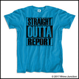 ADULT NURSE T-SHIRT • STRAIGHT OUTTA REPORT- COMPTON PARODY•COOL TEE! ASST-4410 - Rhino Junction Apparel - 4